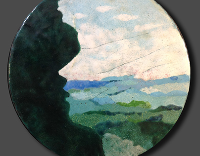 Painted enamels on copper