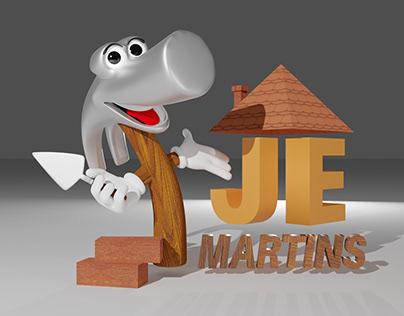 Logo 3D J.E. Martins - Materiais de Construção