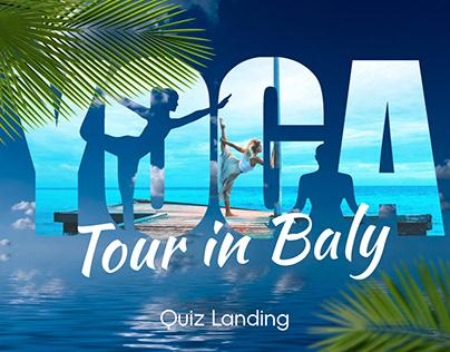 Quiz landing for Yoga tour in Bali