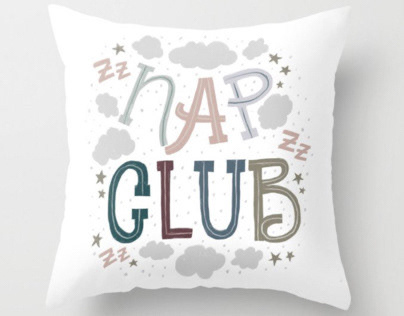 Nap club lettering