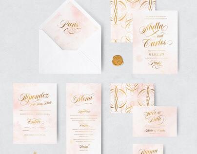 Abella Wedding Stationery Suite