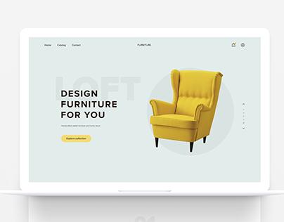 Furniture Landing Page Concept