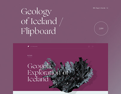 Geology of Iceland /Flipboard 99+ Days in the lab