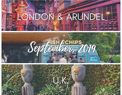 London & Arundel, U.K. - September 2019
