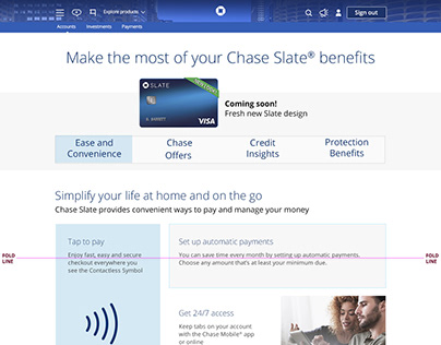 Chase Slate Landing Page