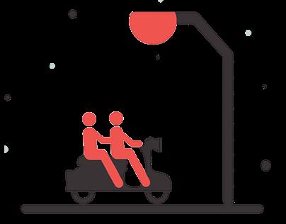 Introduction Slider UI Design 2018 for Ride Sharing App