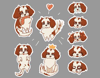 Dany Cavalier sticker set