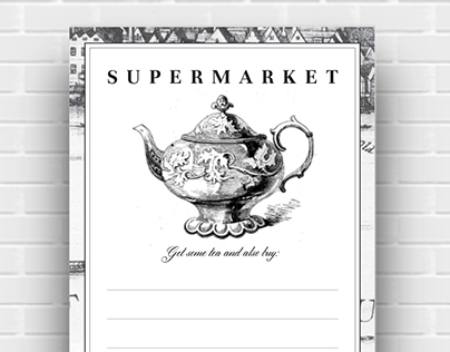 Weekly planners and shopping list