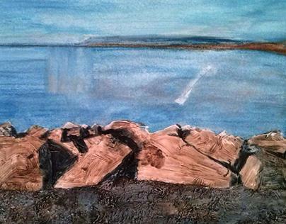 """Lake. Finland. """"Kalevala"""" epos."""