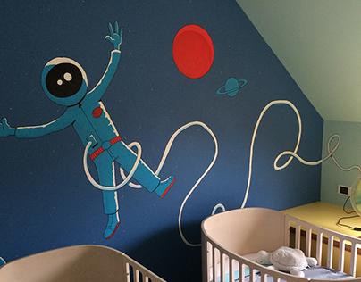 Mural in kids room