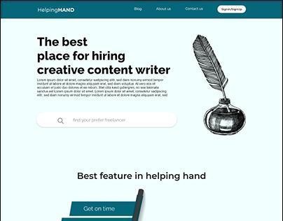 Freelance website web ui design
