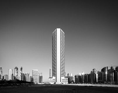 Onehundredthousnad Steps - Dubai B&W