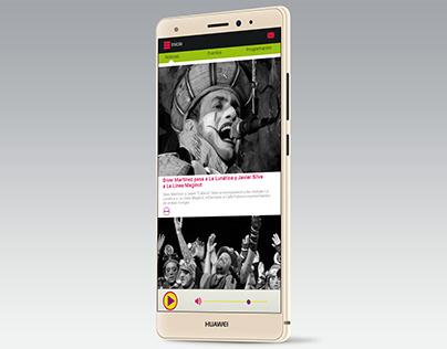 Diseño app radio carnaval