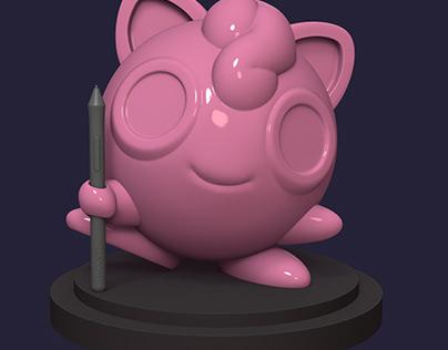 Jigglypuff Pen Holder