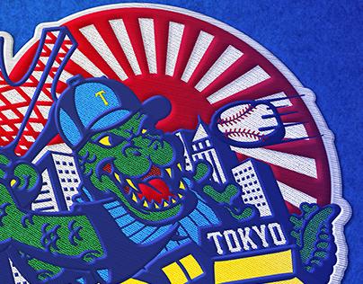 ゴジラ Tokyo baseball team concept