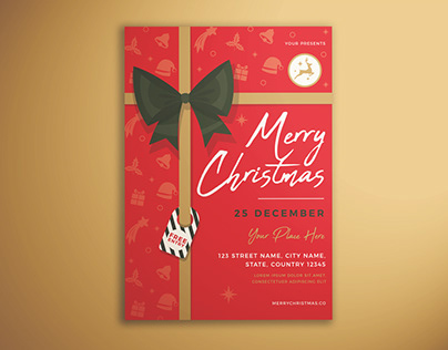 Merry Christmas Invitation Flyer