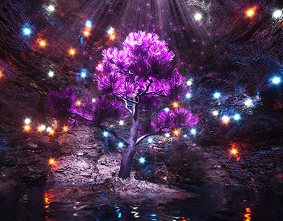 MAGIC TREE   Abstract landscape