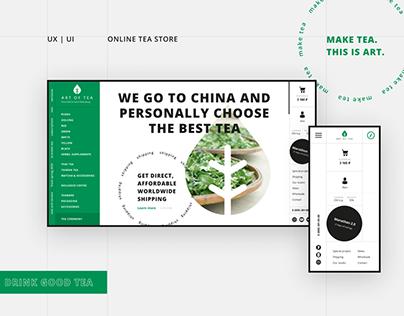 UI | UX Online tea store