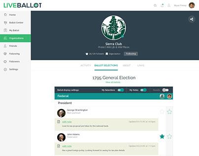 LiveBallot - Product & UI/UX design, Go/Golang, Angular