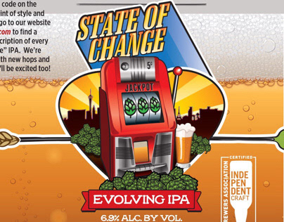 State of Change craft beer label
