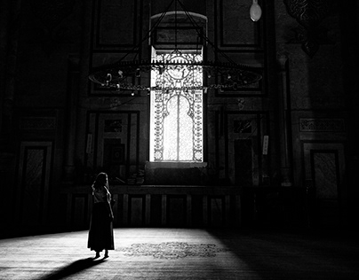 Black and white at the Mosque