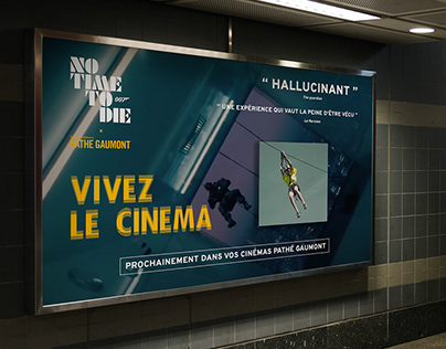 Pathé Gaumont x James Bond | concept, activation, print