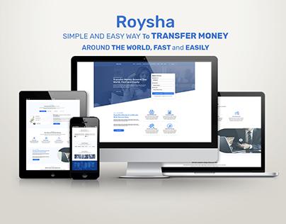 Roysha; UI Landing page