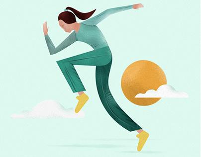 Sports Girls | Illustration