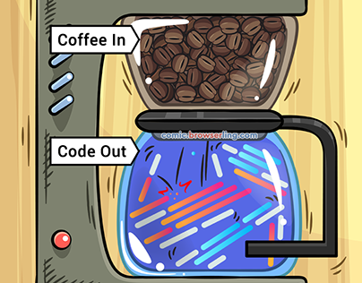 Coffee In, Code Out - Weekly Web-comic for Developers