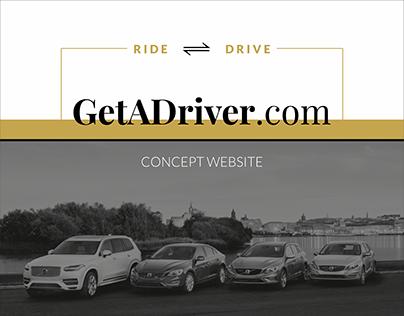GetADriver: Concept Website