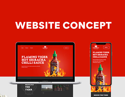 Flaming Tiger Website Concept