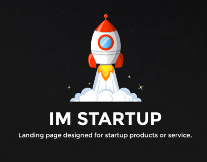 Im Startup - Startup Landing Page With Free PSD