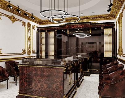 Jewelry store interior design and visualization
