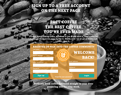 Pact coffee x Facebook D&AD Website