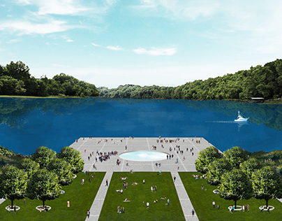 Dance Theater on Dnipro waterfront