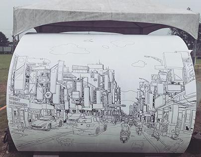Marker murals in Taiwan