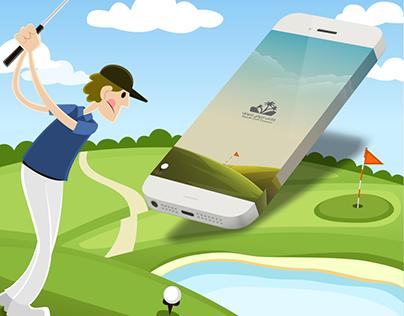 Riyad Golf cources App | تطبيق ملاعب الرياض للجولف