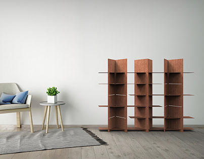 AVA - Cardboard Bookshelf Design