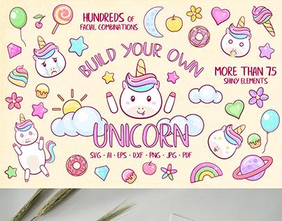 Build Your Own Unicorn Scene Creator - Clipart