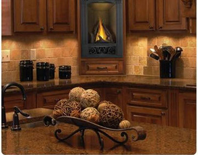 Gas Fireplace at Wilshire Fireplace Shop Costa Mesa