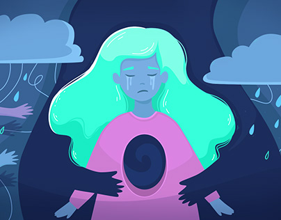 "Illustration Cover ""Depression"""