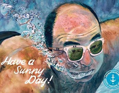 Sheriff&Cherry sunglasses Summer illustrations