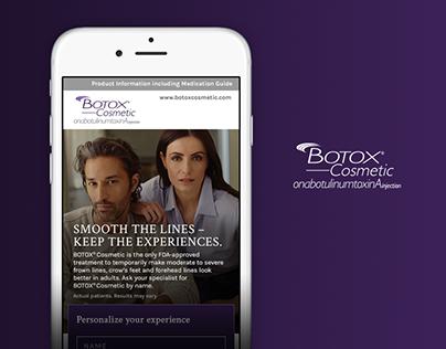 Botox Cosmetic Landing Page