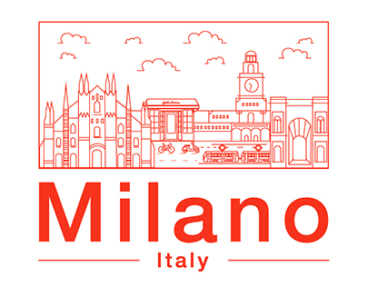 Milano Line Illustration and Motion Graphics