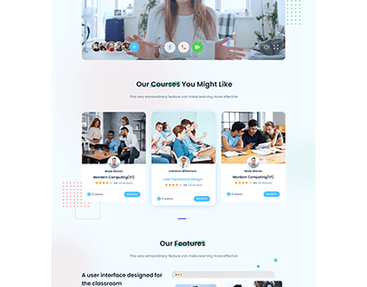 E-Learning Landing Page UI
