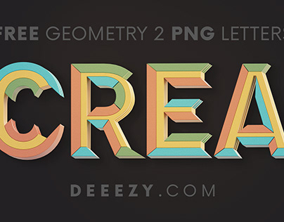 FREE Creative Geometery 3D Lettering 2