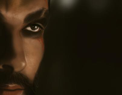 Digital Portrait - Khal Drogo