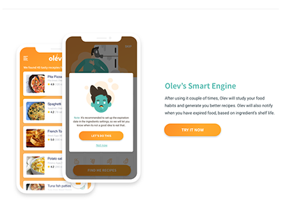Ingredient based recipe app concept