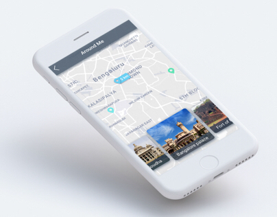 Map UI Concept - Daily UI challenge #029