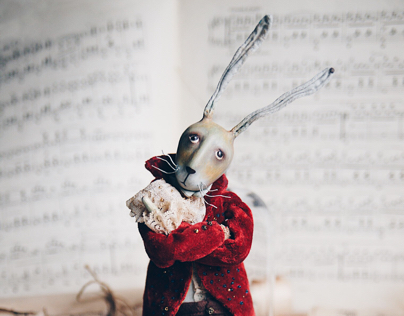 rabbit sir Lord Byron. Art toy.